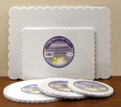 Plastic Cake Serving Boards - Reusable & Extra Strong